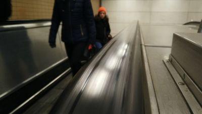 Generic photo of underground escalator