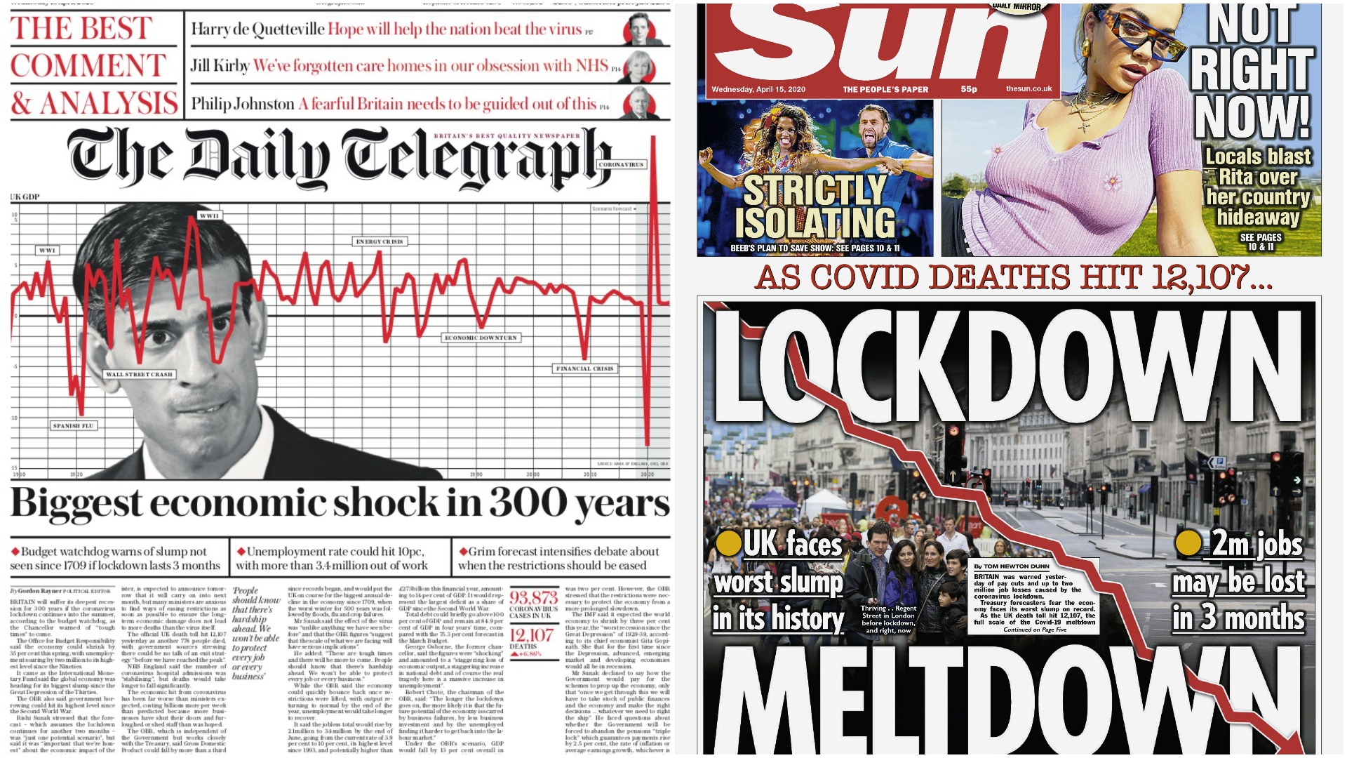 Lockdown Meltdown Coronavirus Economy Impact Leads Papers Itv News