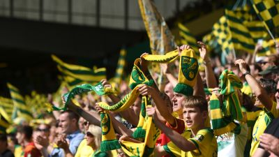 Norwich City fans at Carrow Road.