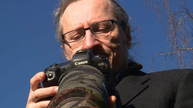 Former violinist Ivor Ottley who has been shortlisted for a national photographic compeition