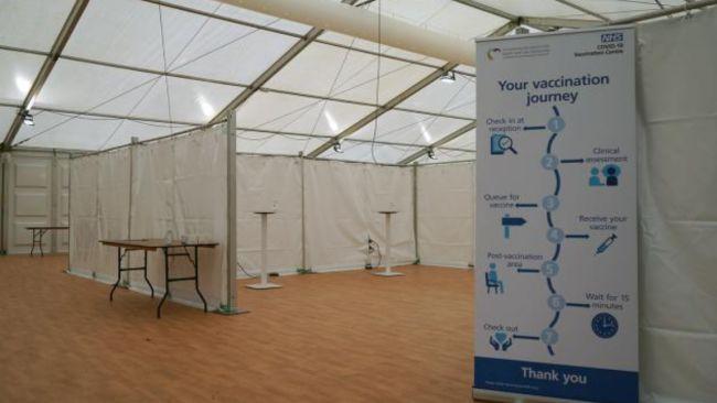 Stithians Showground mass vaccination centre entrance