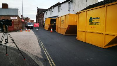 The scene of a cannabis factory in West Walls, Carlisle. ITV Pic