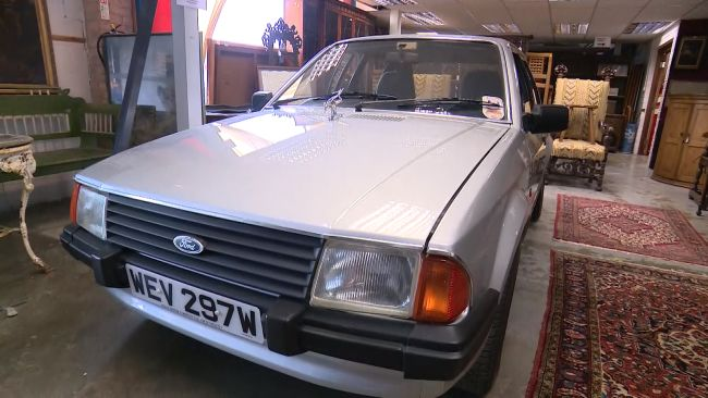 The Ford Escort once owned by Diana, Princess of Wales went under the hammer in Colchester