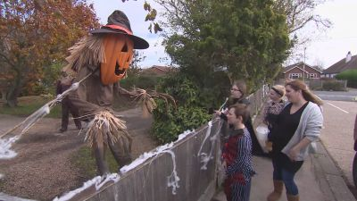 Dozens of gardens are on the pumpkin and safari trail, decorated in scary things.