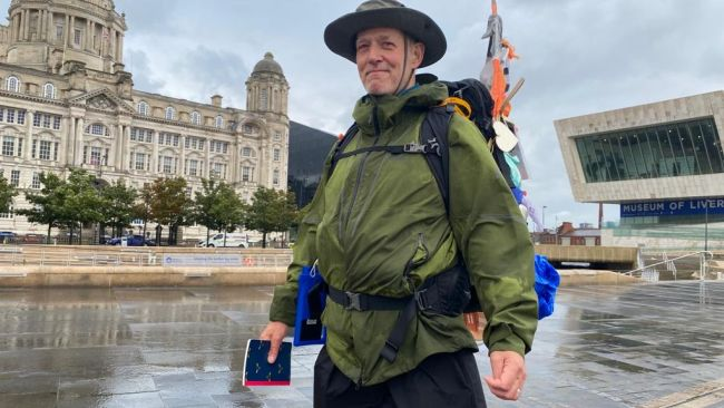 Liverpool grandad setting off on Glasgow trek