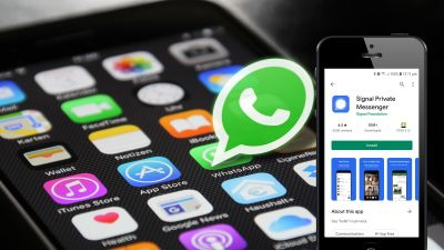 Elon Musk has recommended messaging app Signal after Whatspp updated its privacy rules. Photos: Pixabay