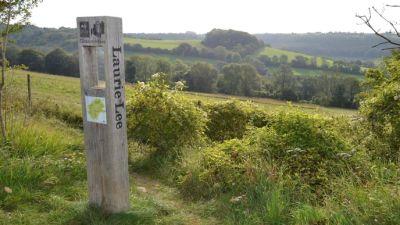 Start of the Laurie Lee Wildlife Way in Slad, Gloucestershire