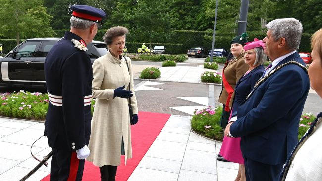Princess Anne during a one-day visit to Northern Ireland.