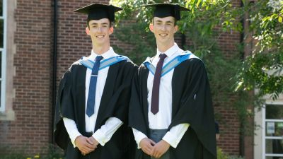 Adam and Jack Tremlett have both completed their medicine degrees at the University of Exeter