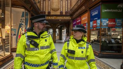 City centre Inspector Karen Madge and Chief Inspector Steve Wykes, of Northumbria Police. the force has issued warnings about anti-social behaviour in Newcastle city centre.
