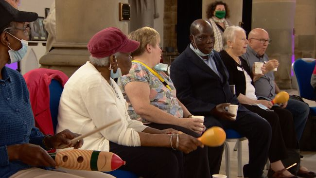 Music cafe for people with dementia run by Manchester Camerata