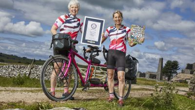 Smashed it - Yorkshire's Catherine Dixon and her friend Rachel Marsden who smashed the round-world tandem record