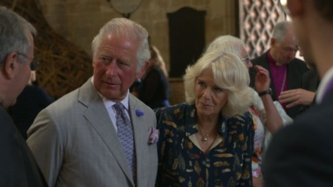 Duke and Duchess of Cornwall at Exeter Cathedral