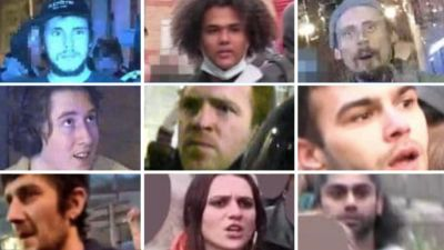 Bristol rioters pictures from Avon and Somerset Police
