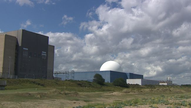 Sizewell Nuclear Power Station in Suffolk