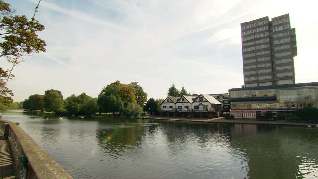 The Embankment in Bedford.