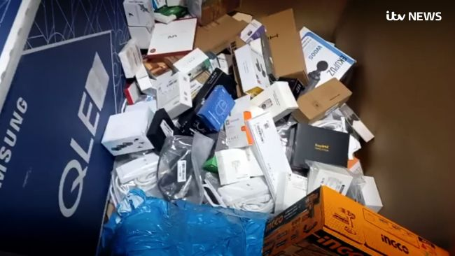 Many of the items being thrown away were still in their packaging.