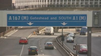 GV of the central motorway in Newcastle.