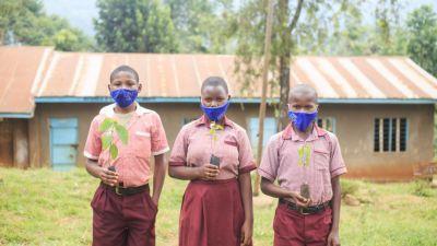 Uganda tree planting credit Welsh Government