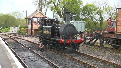 """The A1 class Terrier engine """"Knowle"""" was built in 1880. It's thought to be the oldest steam engine currently in service. It has clocked up a million miles by 1929."""