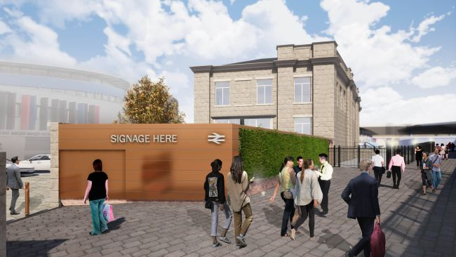 A proposed new western entrance to Newcastle Central Station opposite the Centre for Life. Photo- Newcastle City Council