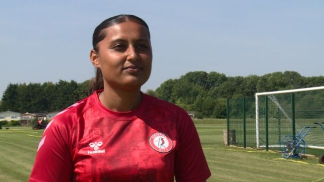 Simran Jhamat is the first British player with South Asian heritage to play for Bristol City