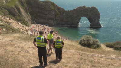 Lulworth Rangers at Durdle Door, Dorset, launch petition to keep our UK beauty spots beautiful.