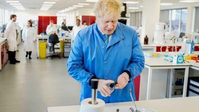 Johnson at the lab