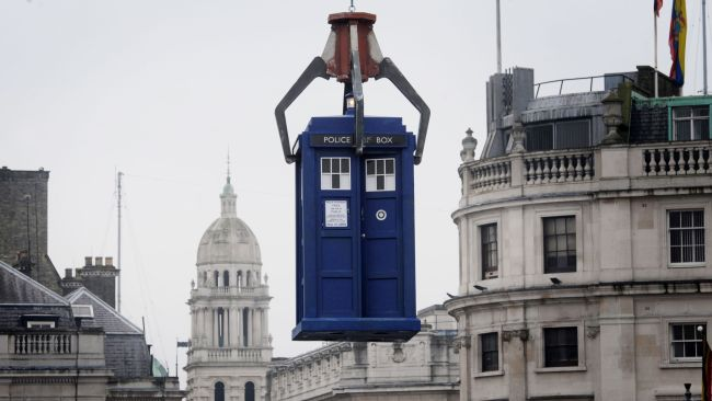 13102021 - Filming of Dr Who takes place in London's Trafalgar Square in 2013 - PA Images