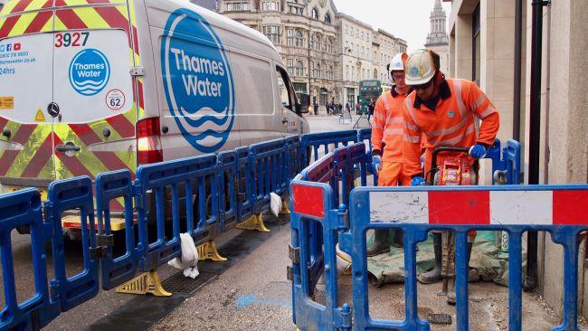 Engineers working to restore water supplies.