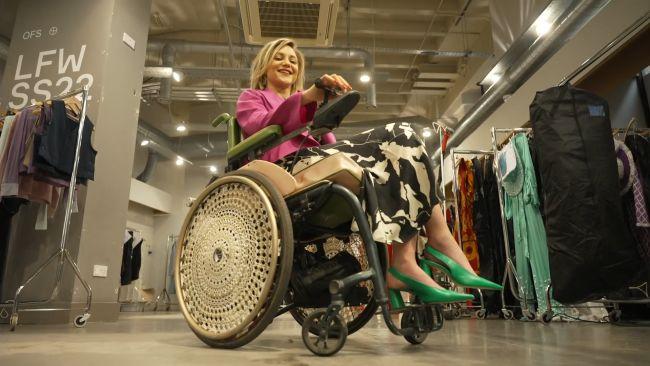 London Fashion week wheelchair models ITV News 170921