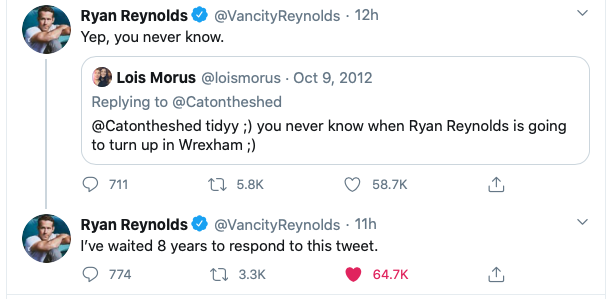 Ryan Reynolds S Wrexham Bid Could This Eight Year Old Tweet Be What Sparked It Itv News