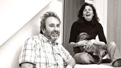 Ian Stewart with his fiance Helen Bailey who was murdered in Royston in 2016.