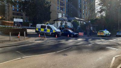 26-02-21-Police cars in place at the scene of suspected bomb-Devon Live/BPM Media