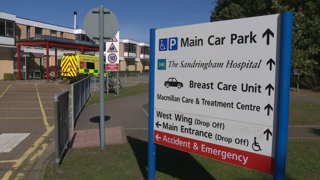 An entrance sign at the queen elizabeth hospital