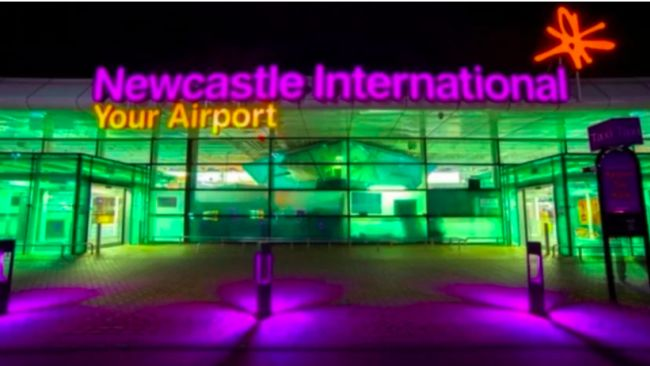Newcastle Airport.