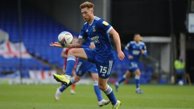 Teddy Bishop in action for Ipswich Town.