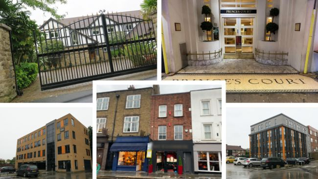 Some of the many properties owned by Manni Hussain.