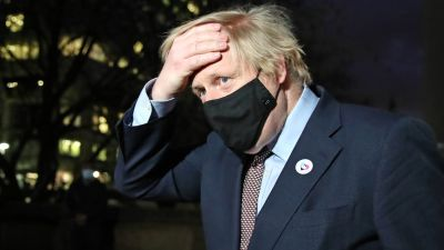 Prime Minister Boris Johnson leaving the Westminster Bridge Vaccination Centre at St Thomas' Hospital, London, having received the first dose of AstraZeneca vaccine. Picture date: Friday March 19, 2021.  Aaron Chown/PA