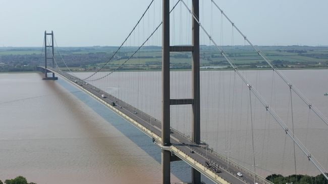 Picture of Humber Bridge from PA