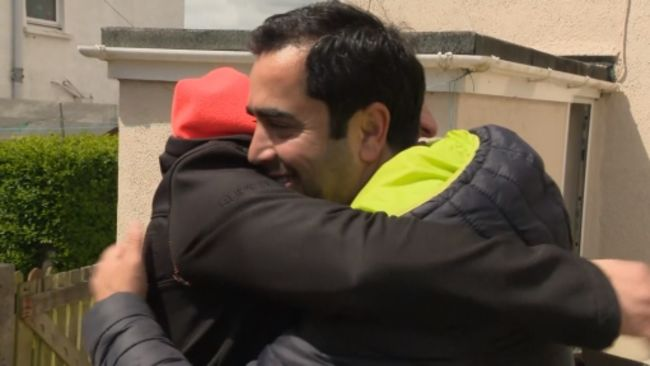 Hasan Kilic invited his brother around for a meal and gave him a hug as it is now legal to do both
