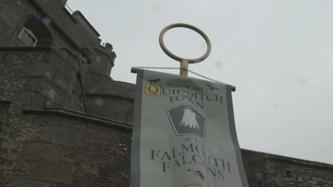 Pendennis Castle is now home to the new decorative banner