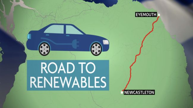 Day one of the Road to Renewables takes us from Eyemouth to Newcastleton.