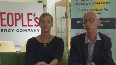 Karin Sode and David Pike of People's Energy, which has ceased trading. ITV Border file pic from 4/8/2020.