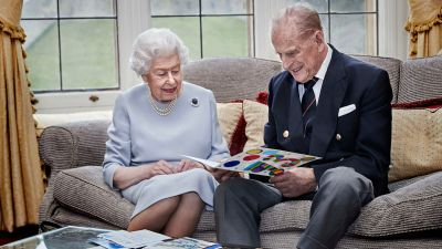 Queen and Prince Philip on their wedding anniversary