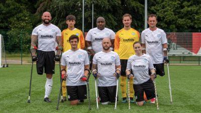Peterborough United's Amputee football team.
