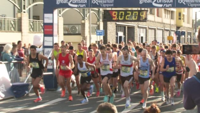 The start of the Great Run which returned to Bristol after two years