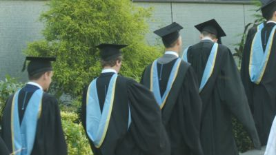 Students in gowns