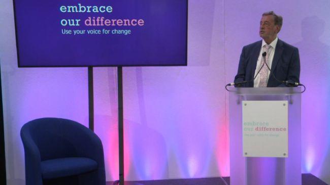 Lord David Blunkett speaking.