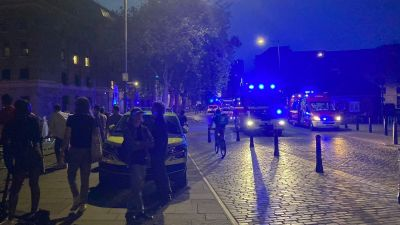Police and fire service at Bristol Harbour